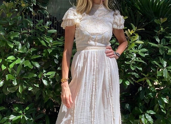 Thannac dress in tulle and cotton size s