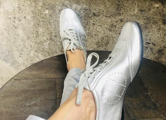 Hermes silver sneaker new 38'5