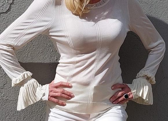 Chanel bluse in cream viscose 40fr