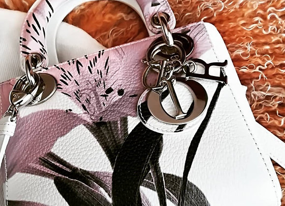 Dior lady dior small limited edition painting with hw silver
