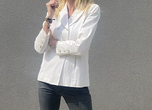 Chanel white blazer size 38fr