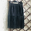 Thumbnail: Thannac black suede skirt with fringes