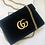 Thumbnail: Gucci marmont black velvet bag new