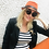 Thumbnail: Hermes orange hat with leather details