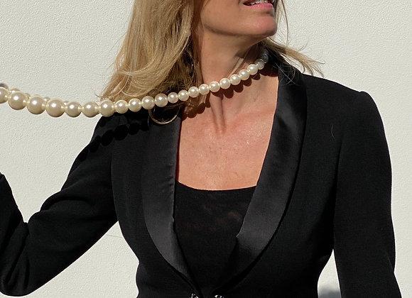 Chanel black cocktail jacket