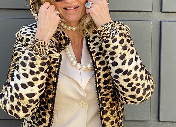 Roberto cavalli spotted  silk jacket