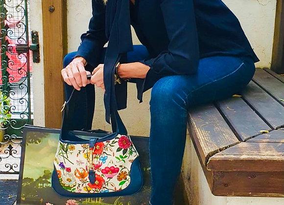Gucci floral jackie bag