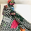 Thumbnail: Gucci flowers wool scarf with gg