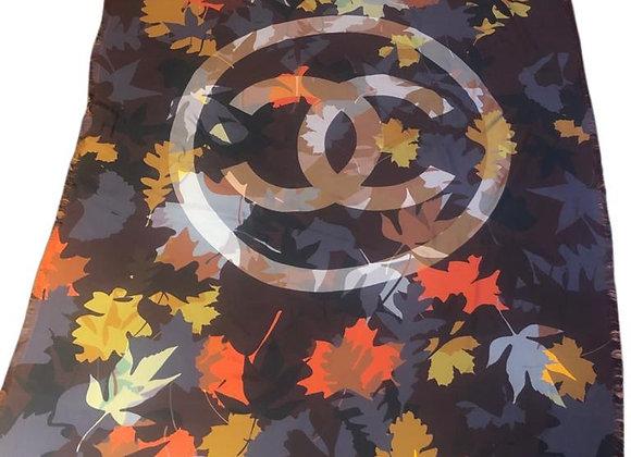 Chanel scarf silk 195cmx135cm new