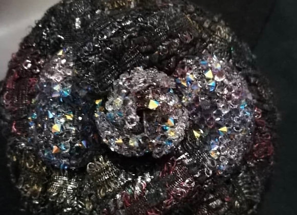 Chanel camelia brooch ,all sequins new