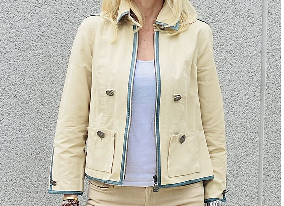Chanel beige trench with logo buttoms