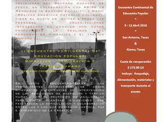 Taller Externo: Encuentro Continental de Educación Popular - San Antonio, Texas
