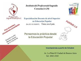 Carrera Especialización Docente Superior en Educación Popular