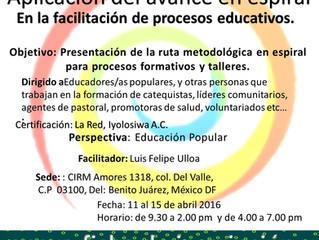 Taller de Facilitación en Procesos Educativos, México-CIRM