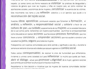Pronunciamiento #UnDiaSinNosotras
