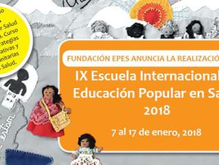 Fundación EPES: Escuela Internacional de Educación Popular en Salud 2018