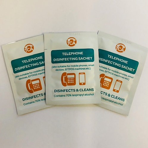 Telephone Disinfecting Sachets