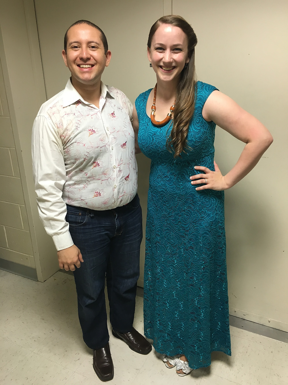 Daniel and I backstage before we began our recital!