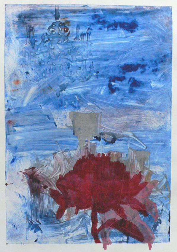 Kuiskauksia ja huutoja II,  25 x 45 cm, 2009 OHO