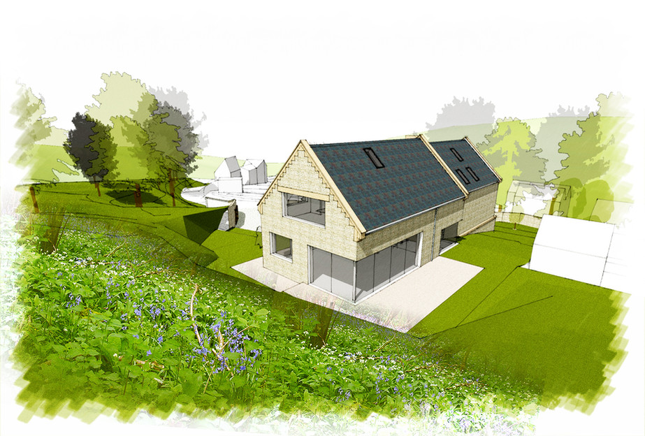New-build house in AONB
