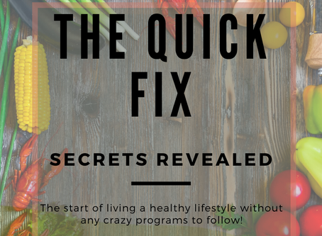 The Quick Fix... Here It Is
