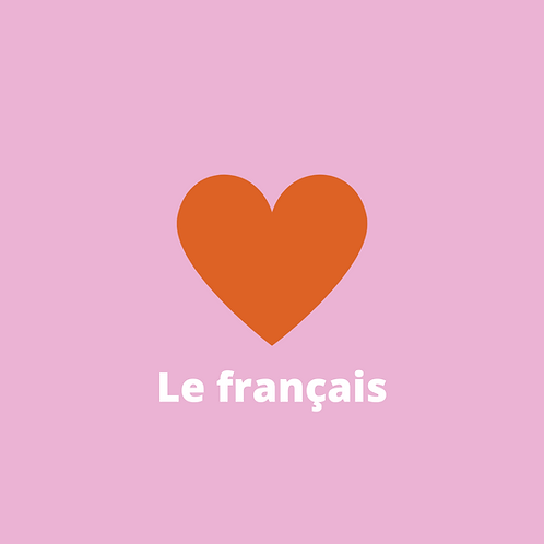 Image objet - J'aime le français