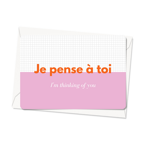 Carte postale - Je pense à toi
