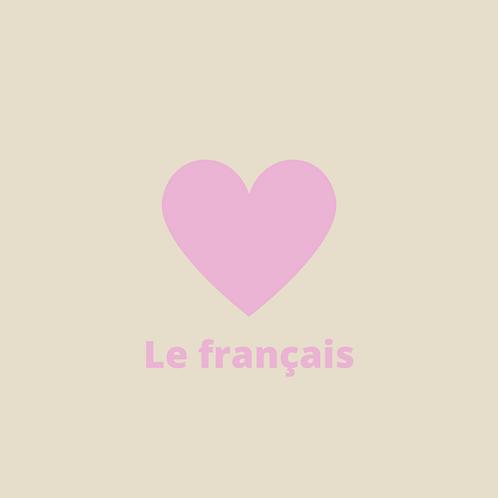 Image objet - J'aime le français - beige