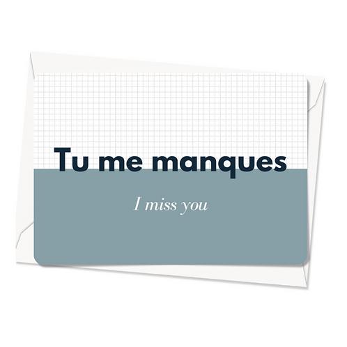 Carte postale - Tu me manques