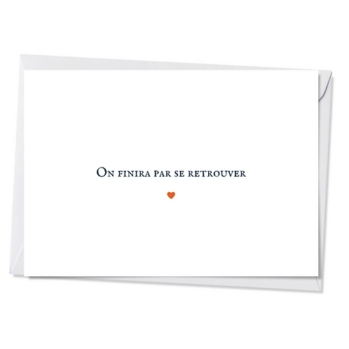 Lot de 5 cartes - On finira par se retrouver