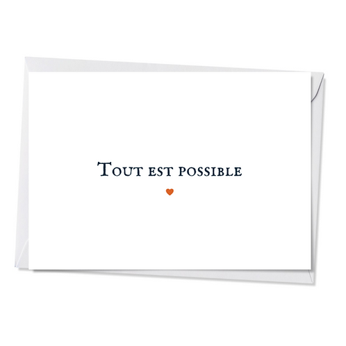 Lot de 5 cartes - Tout est possible