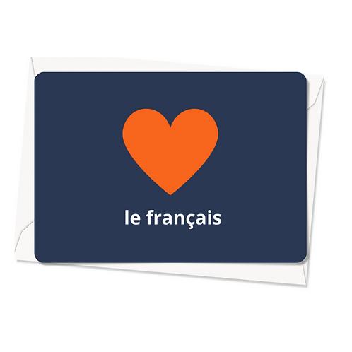 Carte postale - J'aime le français