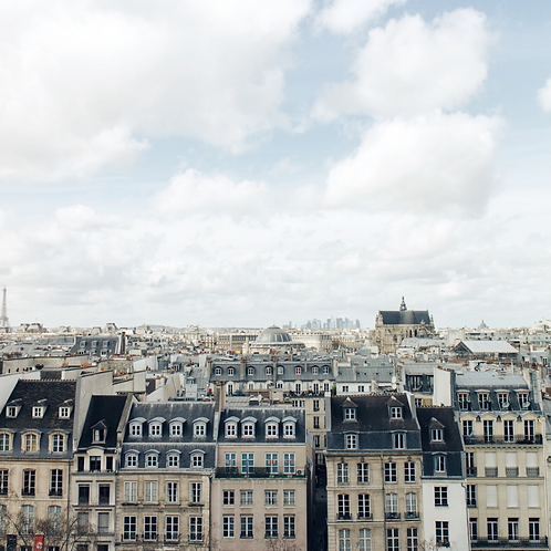 Poster toits de Paris