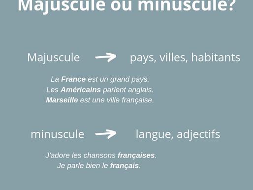 Point langue: Majuscule ou minuscule?