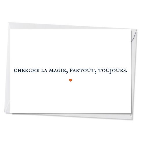 Lot de 5 cartes - Cherche la magie...