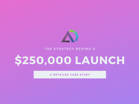 Case Study: The Strategy Behind a $250K Market Launch