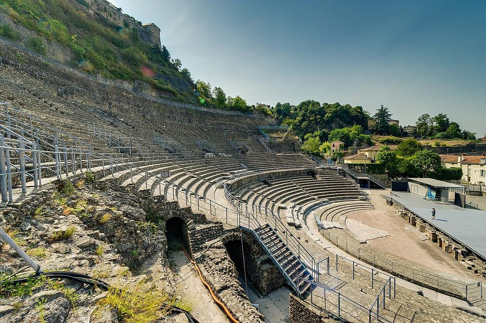 théâtre antique de vienne destination accessible en train depuis Lyon