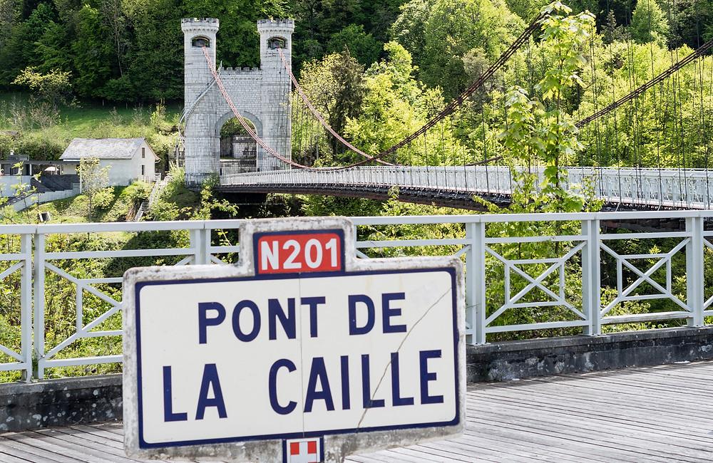 Pont de la Caille viste et lieu insolite autour d'Annecy en Haute-Savoie