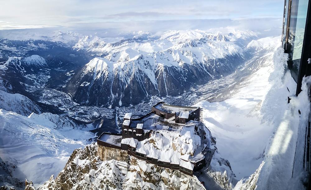 Aiguille du midi plus beau panorama de France des Alpes et de la région Auvergne-Rhône-Alpes