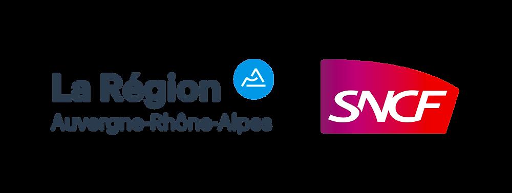 logo sncf et région Auvergne-Rhône-Alpes