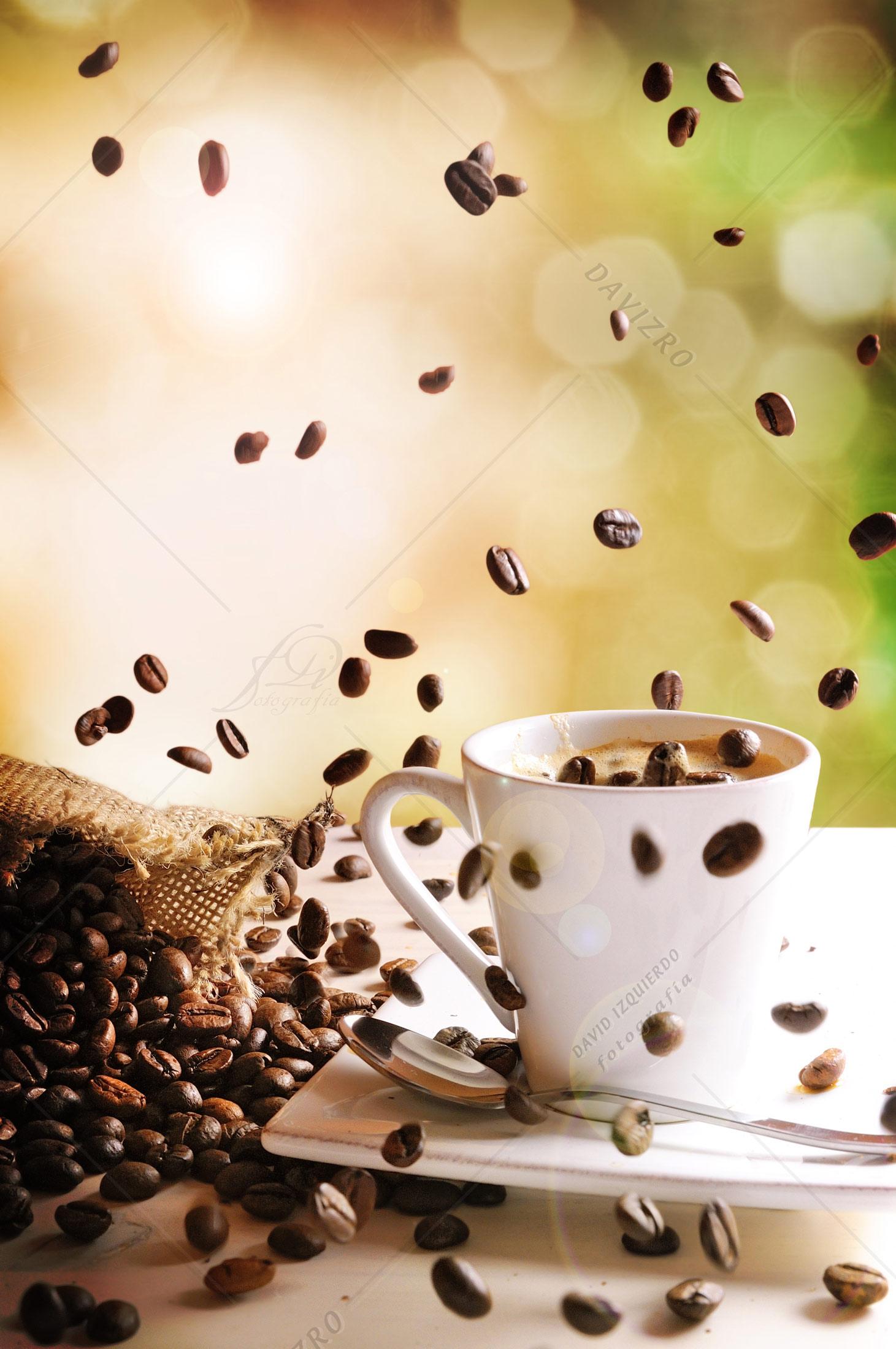 Café cayendo