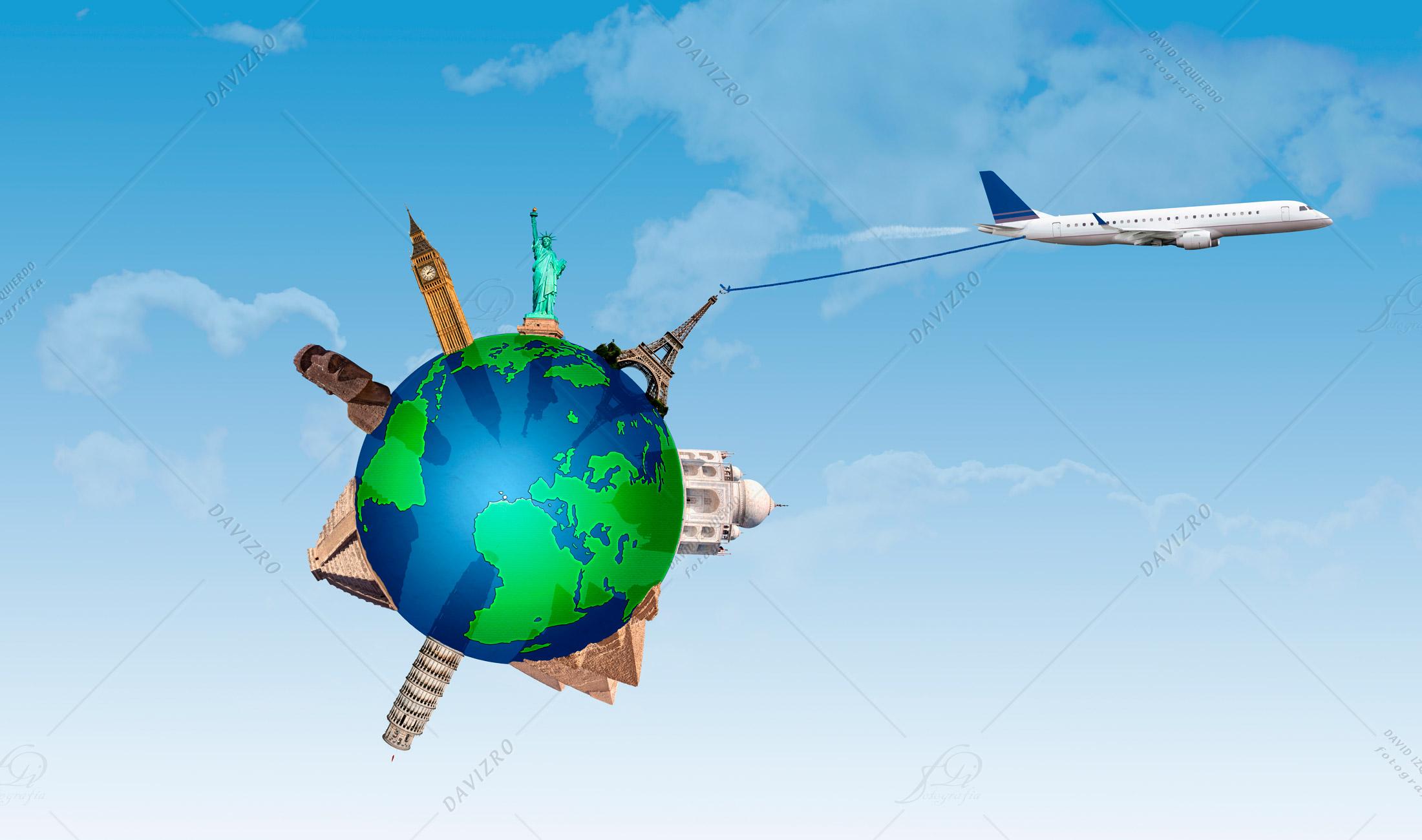 Concepto Viajar por el Mundo