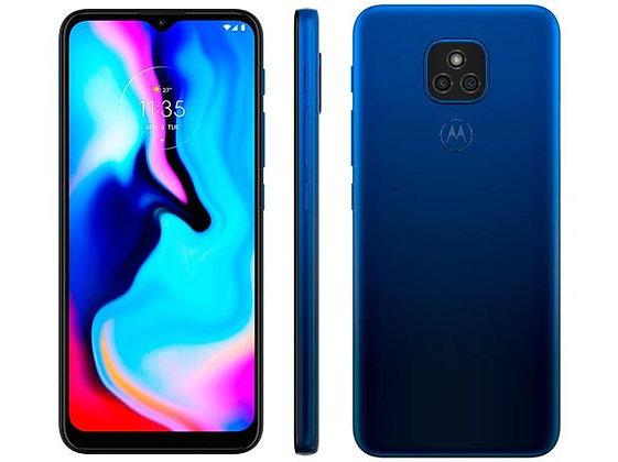 "Smartphone Motorola Moto E7 Plus 64GB Azul Navy - 4G Octa-Core 4GB RAM 6,5"" Câm."