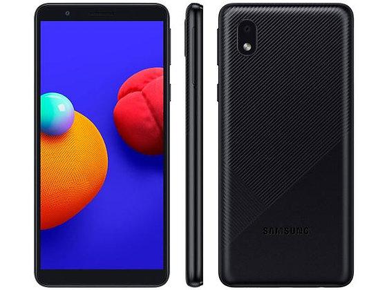 Smartphone Samsung Galaxy A01 Core 32GB Preto - Processador Quad-Core 2GB RAM Câ