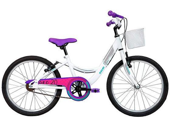 Bicicleta Infantil Aro 20 Caloi Ceci Branco - com Cesta Freio V-Brake