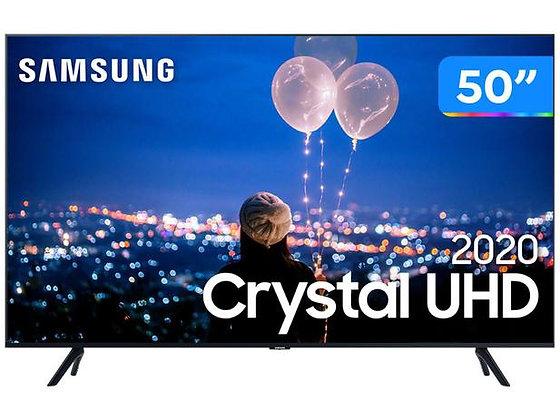 "Smart TV Crystal UHD 4K LED 50"" Samsung - 50TU8000 Wi-Fi Bluetooth HDR 3 HDMI 2"