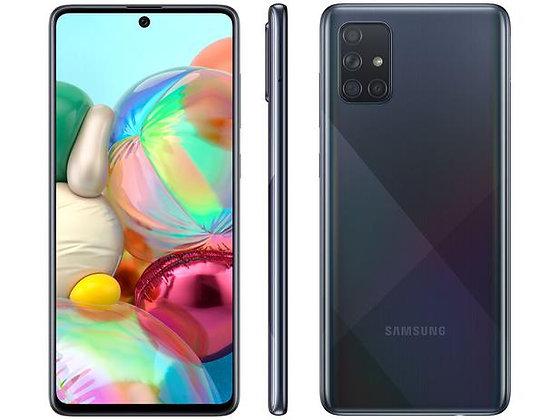 """Smartphone Samsung Galaxy A71 128GB Preto 4G - 6GB RAM Tela 6,7"""" Câm. Quádrupla"""