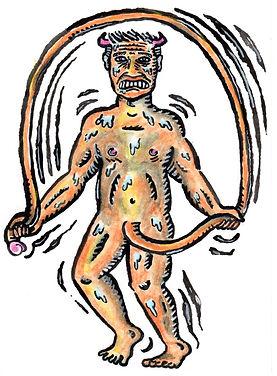 Old Facebook Profile Watercolour Illustration