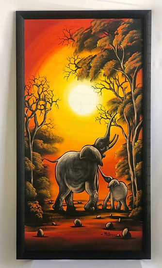 """Mother and Child Elephant"""
