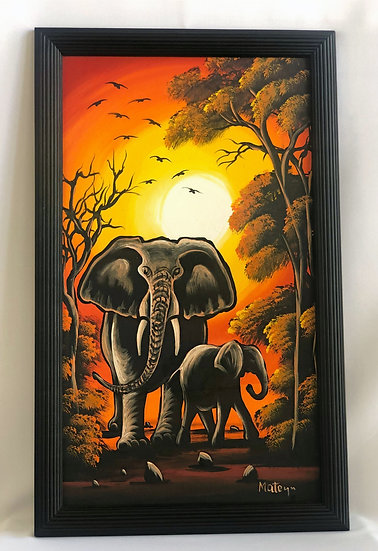 """Mother and Child Elephants"""